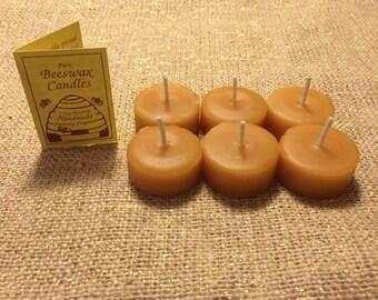 100% Pure & Natural Beeswax Tea Light Refills