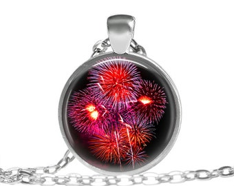 FREE SHIPPING Baby You're A Firework Red Sparkle Necklace, Firework Jewelry, Firework Necklace, 4th of July, New Years, Firework Photography