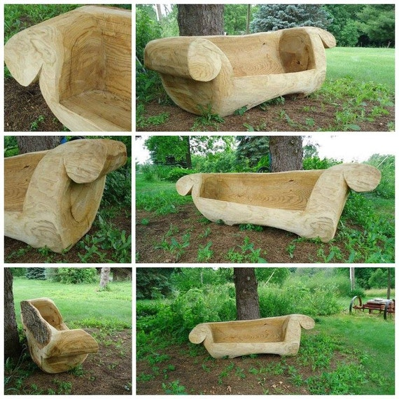 Items similar to crooked furniture chainsaw carving
