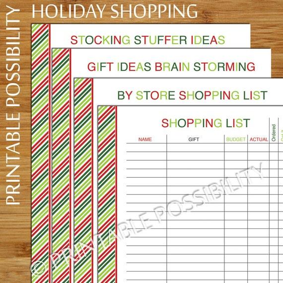 Christmas Gift Planner: Christmas Shopping Planner Set Christmas List Shopping