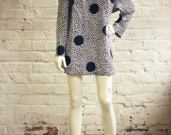 Vintage Polka Dot Dress // Size 10