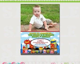 Superhero Birthday Invitation Printable  - Super Hero Birthday Invitation - Super Hero Invite - DIY