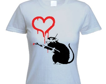 Banksy Love Rat Women's T-Shirt