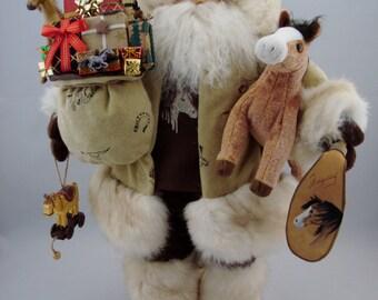 """Cowboy Santa - Santa Claus Doll - 19"""" Tall"""