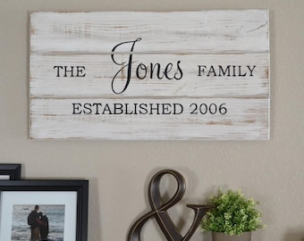 Family Established Sign || Established Name Sign || Wood Sign || Name Sign ||Wedding Sign || Wedding Gift || Rustic Wedding || Last Name
