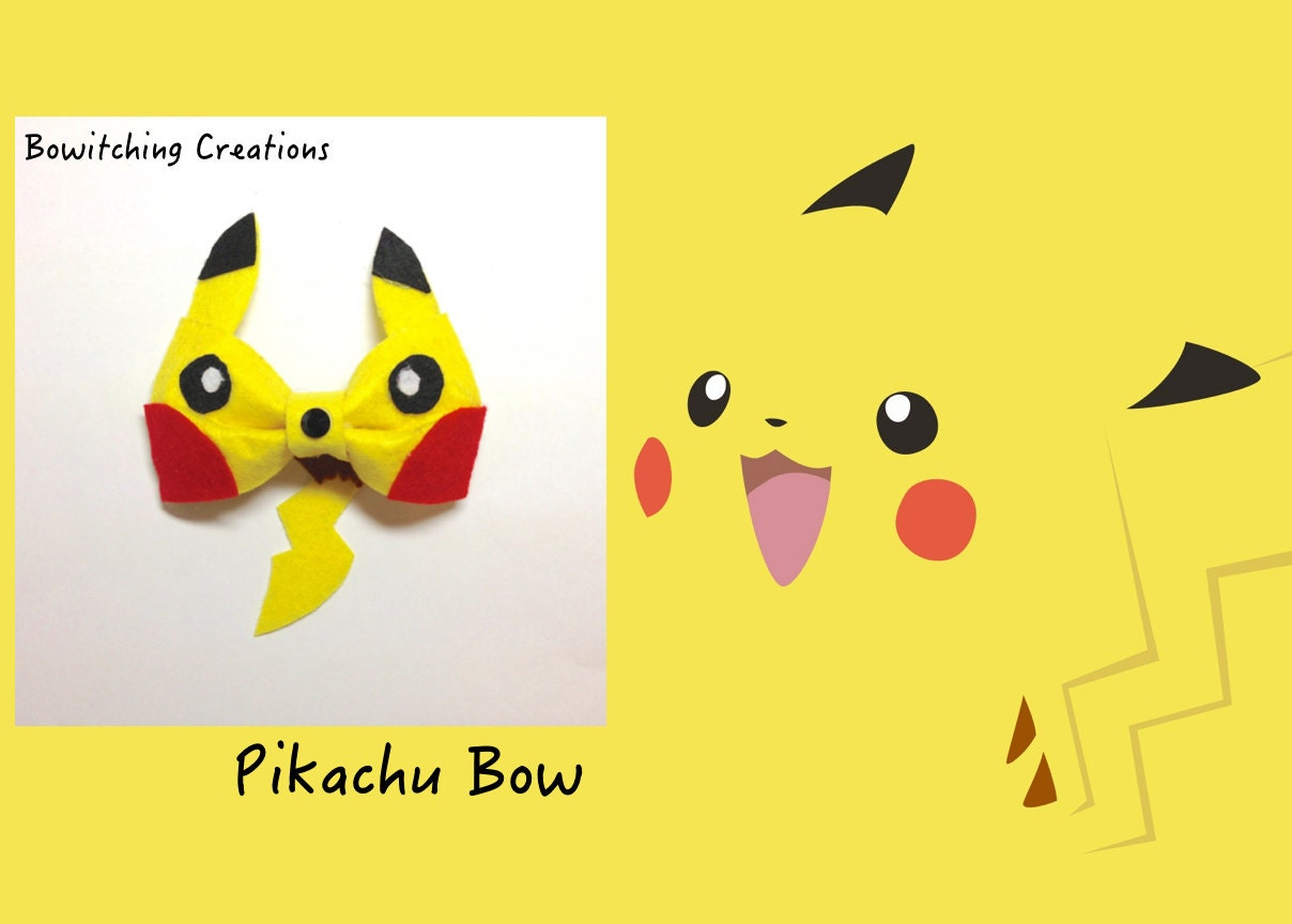 Pikachu Pokemon Bow Tail or No Tail by BowitchingCreations ...