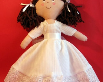 Ragdoll with catholic confirmation ceremony suit. - Fabricdoll