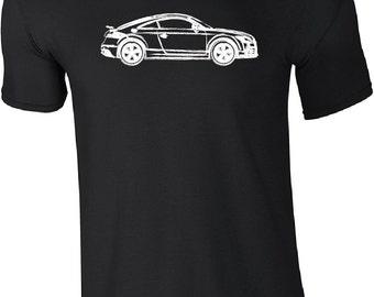 Audi TT 2nd Generation Car Design Hand Drawn Mens T shirt ATT01