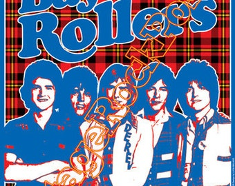588 - BAY CITY Rollers - Newcastle 6 May 1975 - artistic concert poster