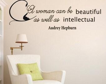 Wall Decals Audrey Hepburn Quote Decal  Woman Beauty Sayings Sticker Vinyl Decals Wall Decor Murals Z283