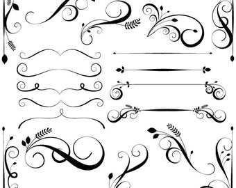 Unique Swirly Flourish Brushes