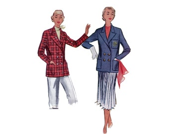 50s Double Breasted Jacket pattern vintage 32-26.5-35 Tailored Jacket pattern Suit Jacket elegant classic mccalls 8699