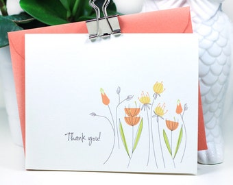 Thank You Cards- Wildflower Notecards
