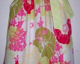 SUMMER SALE 18m Pillowcase Dress Girls Dress with Flowers Oriental Floral Dress Hawaiian Dress Polynesian Floral Dress Summer Dresses