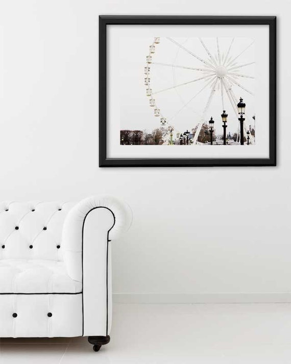 "SALE! Paris Print, ""Ferris Wheel"" Extra Large Wall Art, Paris Photography Art Print, Oversized Art, Fine Art Photography Paris Decor"