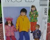 McCall's 3387 - Kids' Easy Polar Fleece Jackets, Pants, Hats - Cute - Bear-Ear Hat - Size 4 5 6 - Kawaii, Animal - Toddler - UNCUT Boy, Girl