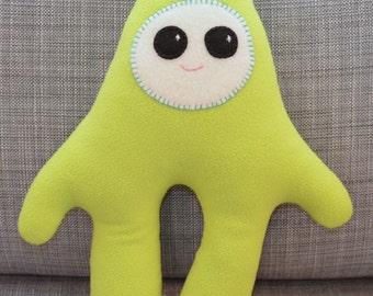 Lime Green Plush Monster Stuffie,  Milo