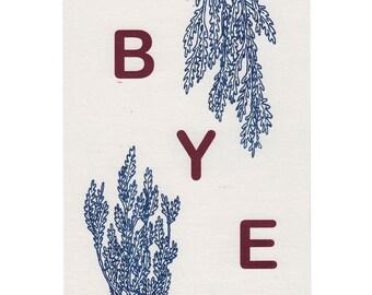 BYE Risograph Print in Medium Size