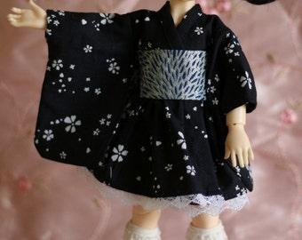 Falling flowers in blue - Wa Loli Lolita dress for Yosd BJD