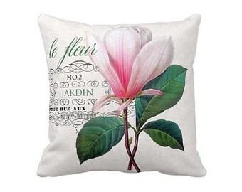 Pillow Cover Pink Botanical Flower Le Fleur