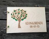 Custom Wedding Guest Book Wood Guest Book Tree Wedding Guest Book Rustic Wedding Guest Book Anniversary Wedding