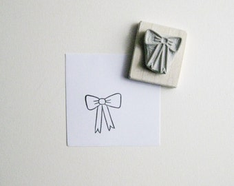 Little Bow - Hand Carved Rubber Stamp