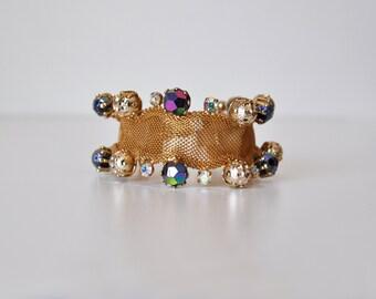 Rhinestone Mesh Bracelet