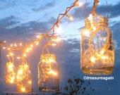 Mason Jar Party Lights 6 DIY Lantern Hangers for Wedding, Patio, or Garden, Mason Jar Hangers, no jars