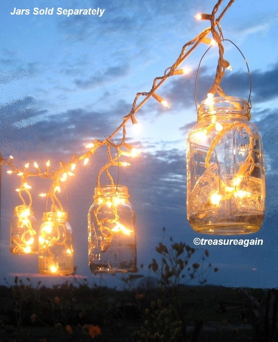 Items Similar To Mason Jar Party Lights 6 DIY Lantern Hangers For Wedding Patio Or Garden