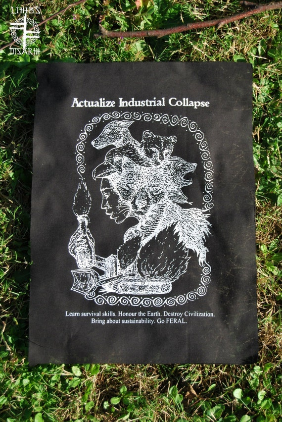 Actualize Industrial Collapse - backpatch and free patch (30 different designs available)