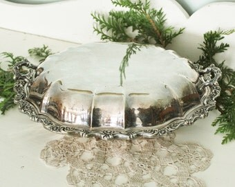 Antique Silverplate Covered Server Silver Plate