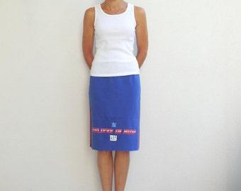 New York Giants TShirt Skirt Womens Skirt NFL Football Eco friendly Clothing Cotton Skirt Handmade Giants Skirt ohzie