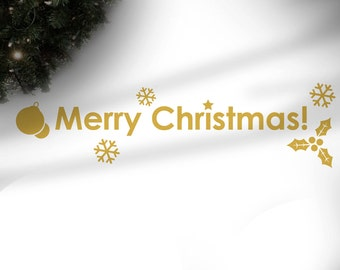 Winter Wall Decals - Holiday Season Stickers - Merry Christmas - SL0006
