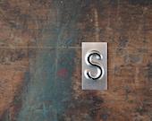 vintage industrial letter S / metal letters / letter art