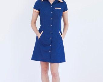 Waitress uniform, retro dress, diner dress, blue dress, waitress dress, diner uniforms