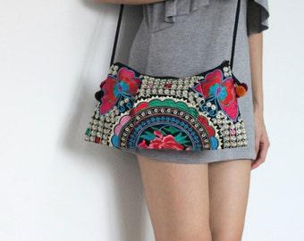 Hmong Small Thai Shoulder Ethnic Boho Hobo Dangle Vintage Bag