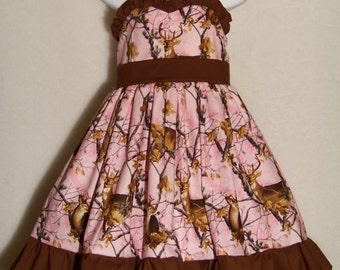 Sweetheart Halter Dress / Camo / Pink / Wedding / Flower Girl / Gorgeous / Beautiful / Deer / Girl / Toddler / Custom Boutique Clothing