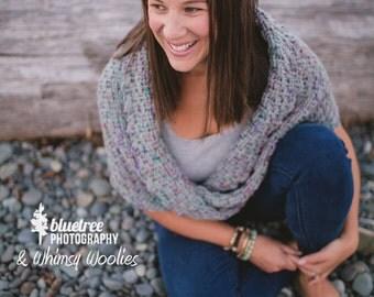"Infinity Shawl Crochet Pattern: ""Twisted Infinity Shawl"""