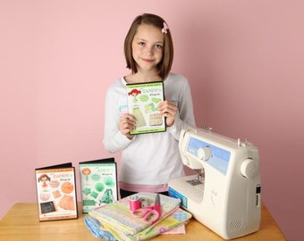 Learn How to Sew for Kids Pixie Projects Level 2 DVD Set (Intermediate Volumes 5 thru 7)