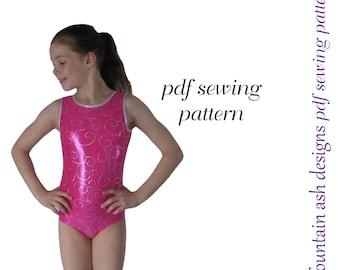 Leotard pattern leotards 1 gymnastics gym ballet dance sewing pattern girls sizes 2-14