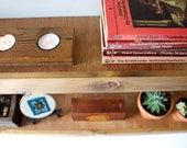 Floating Shelf Set - Light Finish - Two Reclaimed Wood Face Floating Shelves - Modern Book Shelf - Rustic Modern Home - 36 Inches