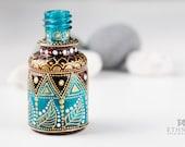 Mini hand painted bottle / Art-deco flacon