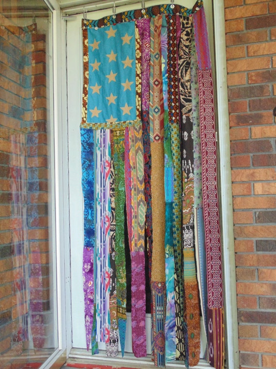 bohemian beaded door curtain ethnic american flag