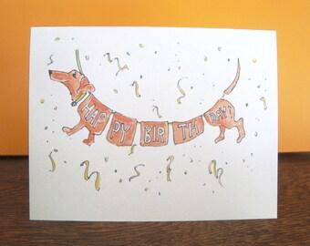 Dachshund Greeting Card - Happy Birthday!