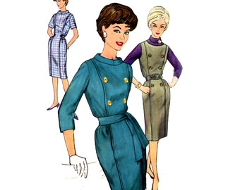 Simplicity 4089 60s Slim Dress Sewing Pattern Size 18 Bust 38 Wiggle Dress or Jumper Sewing Pattern
