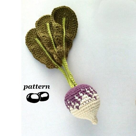 Crochet Turnip Pattern / Crochet Rutabaga Pattern / Crochet