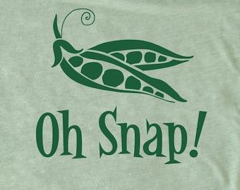 Oh Snap men's shirt, snap pea shirt, Vegan shirt, Foodie Shirt, Chef Shirt, Vegetarian shirt funny men's T-Shirt, funny vegan gift vegetable