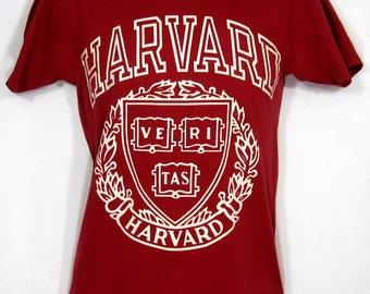 Vintage Champion Harvard University T-Shirt Sz.S 1980's