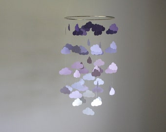 Purple Clouds Mobile // Nursery Mobile - Choose Your Colors