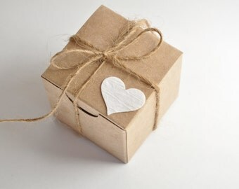 Rustic wedding, favor boxes, 100 boxes, kraft favours, small gift box